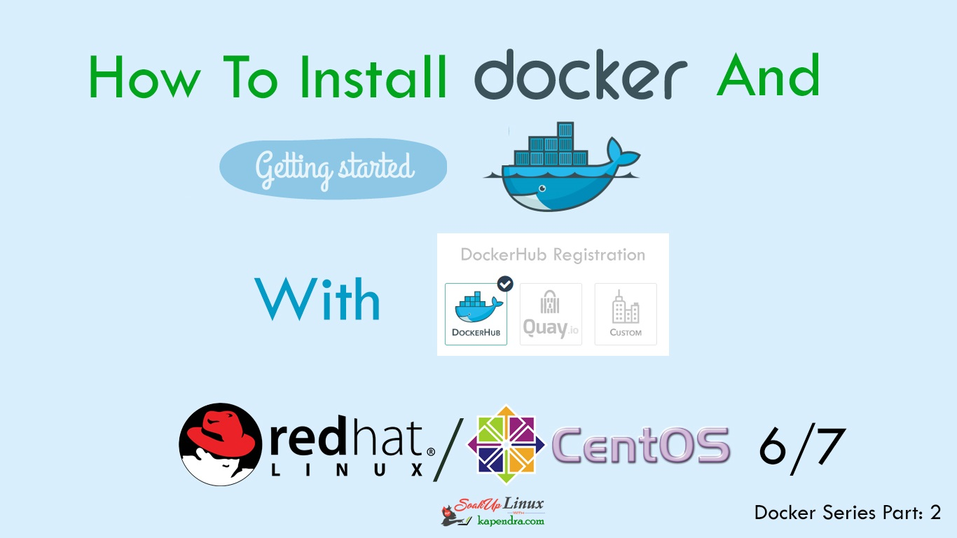 How To Install Docker On CentOS/RHEL 6/7 And Learn Docker HUB Registration